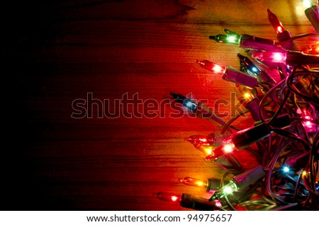 Background of colorful Christmas lights. - stock photo