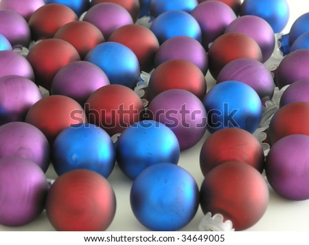 background of colorful Christmas tree ornaments