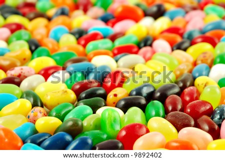 Background of colorful jelly beans