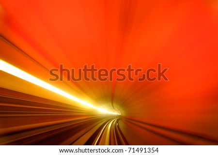 Background of  colorful scene of tunnel. - stock photo
