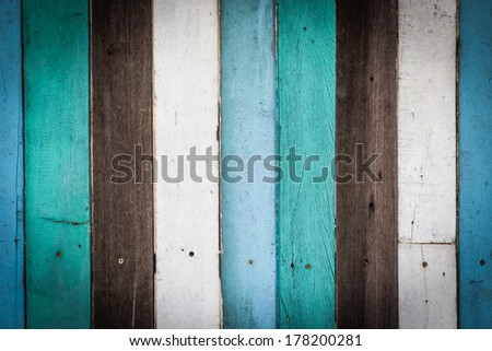 Background of colorful vintage wooden texture