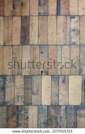 background of colorful wooden dowels