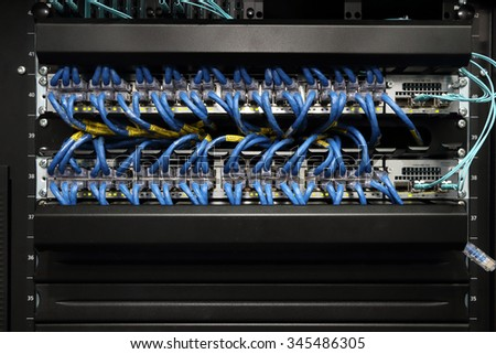 background of computer servers - stock photo