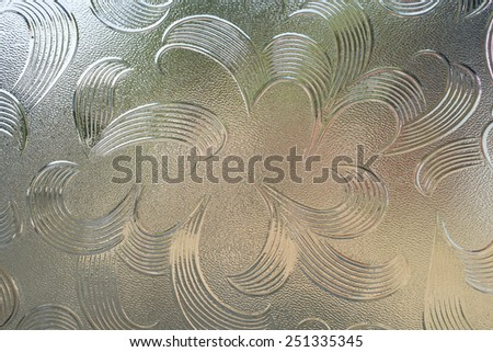 Background of corrugated glass  - stock photo