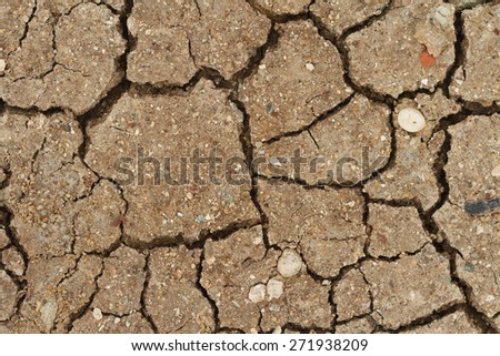 background of cracked dry soil closeup. horizontal  - stock photo