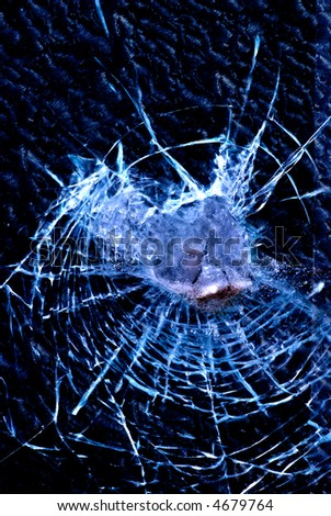 background of cracked glass - stock photo