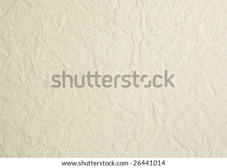 Background of creamy white wrinkled rice paper - stock photo