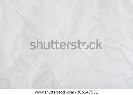 Background of Crumpled white paper - stock photo