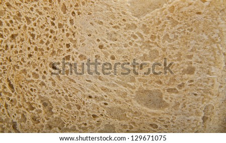 background of crust of bread - stock photo