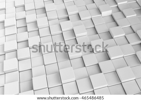 Background of cubes with light and shade. 3D render