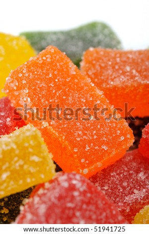 background of delicious sweet candies in sugar - stock photo