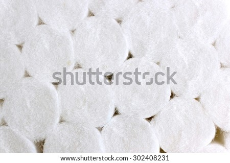 Background of dental cotton rolls - stock photo