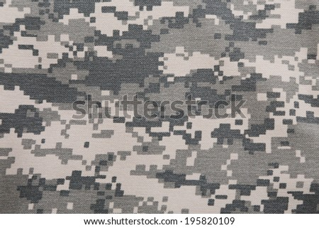 background of  digital camouflage pattern - stock photo