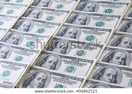 Background of 100 dollar bills