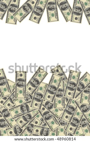 background of dollars with space for text