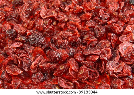 background of dried cranberries - stock photo