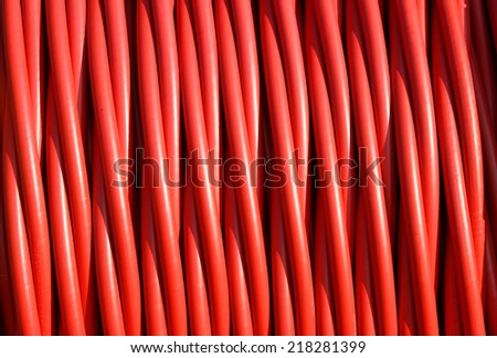background of electric cable insulating rubber - stock photo