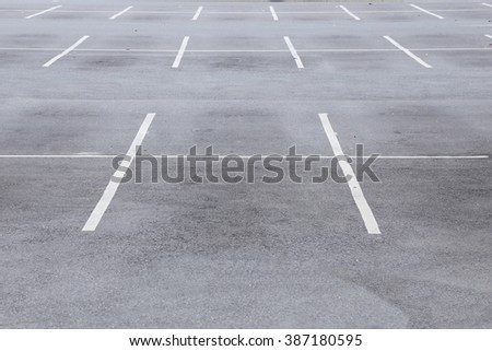 background of empty parking lot - stock photo