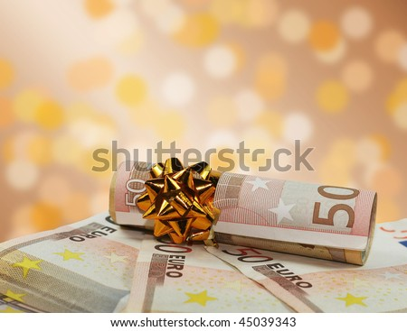 background of 50 euro - stock photo