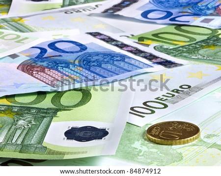 Background of euro money. Close up. - stock photo