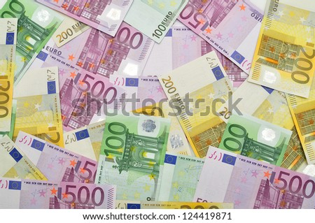 Background of euro paper money. - stock photo