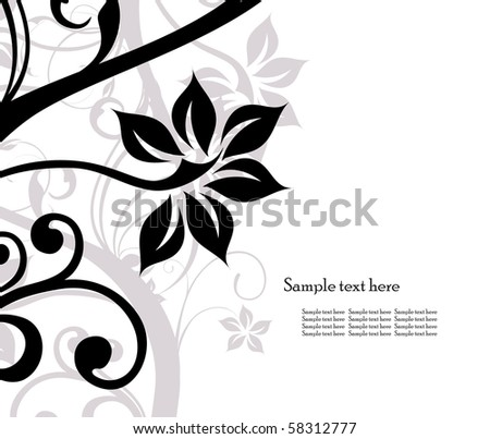 background of floral abstract design element