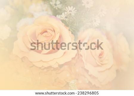 Background of flowers filters style, blurred - stock photo