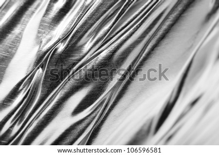 background of foil pleat - stock photo