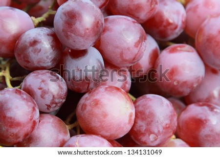 background of fresh red grape