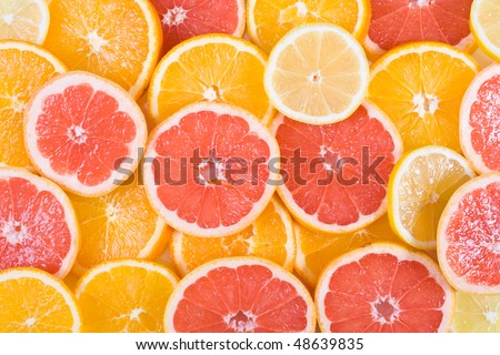 Background of fresh sliced orange