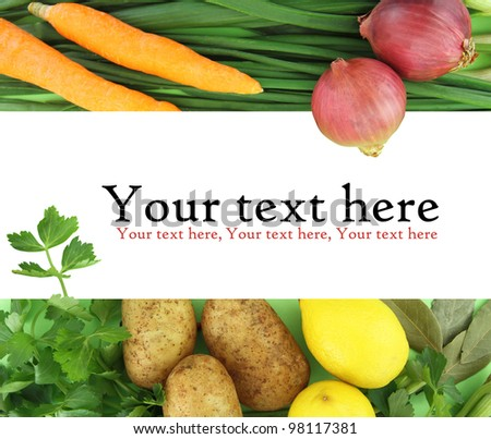 Background of fresh vegetables - stock photo