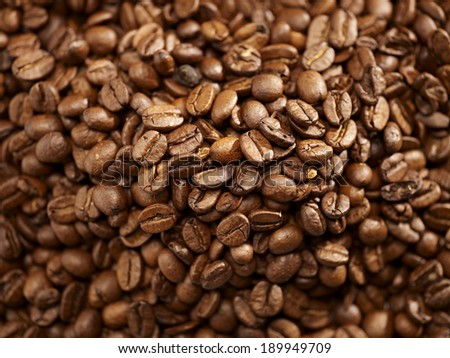 background of freshly roasted coffee beans