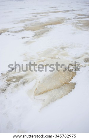 background of frozen surface of the earth - stock photo