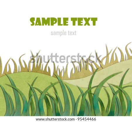 Background of grass. Paper. - stock photo