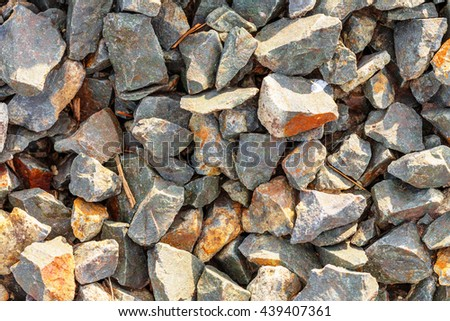 Background of gravel stones (natural texture) - stock photo