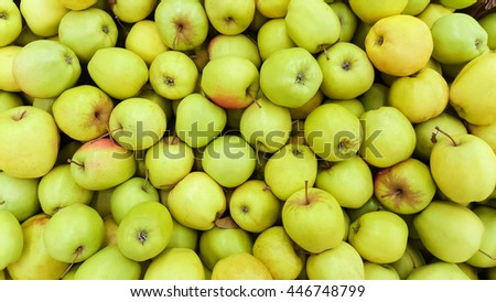 background of green apples  - stock photo