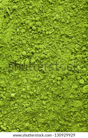 Background of green powder matcha tea - stock photo