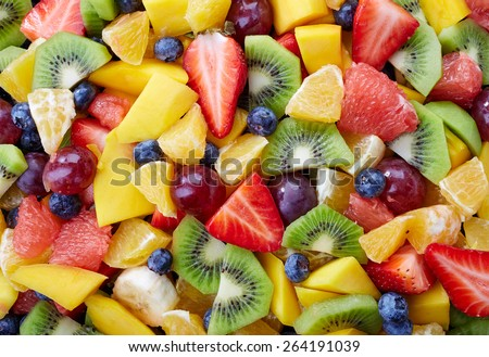 Background of healthy fresh fruits - stock photo