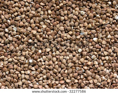 background of healthy organic buckwheat grains