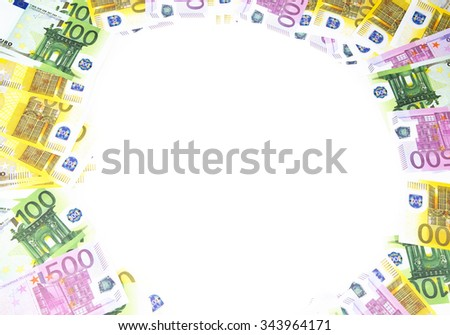 Background of hundreds euro. Isolated photo of an object. - stock photo