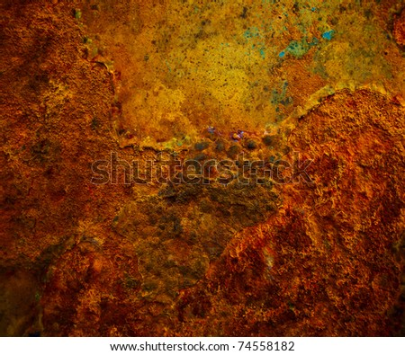 Background of iron rusty - stock photo