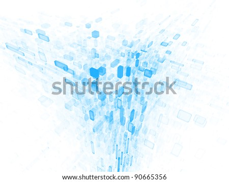 Background of irregular three dimensional units on the subject of data storage, data cloud and modern technologies - stock photo