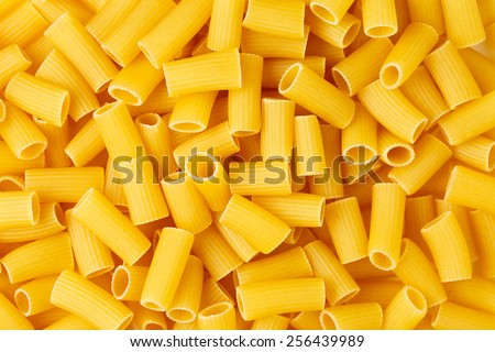 Background of italian pasta Rigatoni  - stock photo