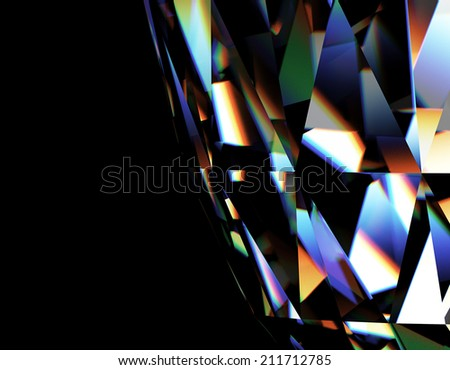 Background of jewelry gemstone. Facet - stock photo