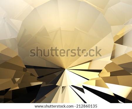 Background of jewelry gemstone. Facet. Cognac diamond - stock photo
