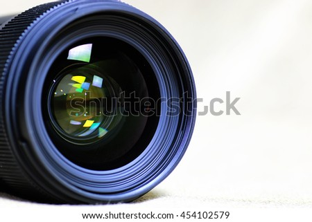 background of lens flare object - stock photo