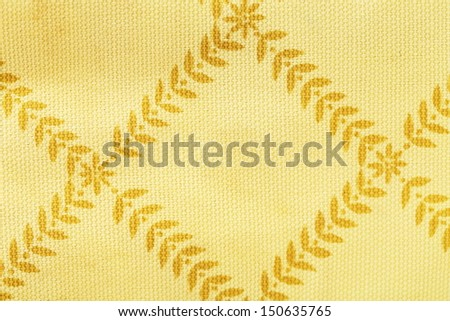 Background of light brown fabric. Texture. Close up. - stock photo