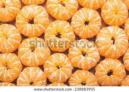 background of mandarin fruit - stock photo