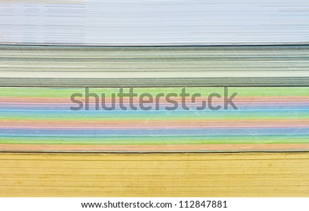 Background of many books in a shelf. - stock photo