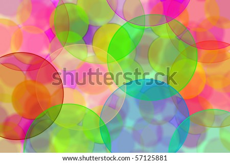 background of many circles of different colors and sizes